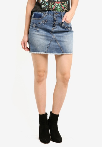 Desigual blue Fansy Skirt 21112AAF514901GS_1
