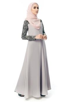 6bc14e50636c9 Imaan Boutique grey Ilham Dress Grey 32F77AADBC01CEGS 1