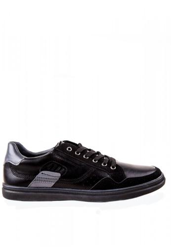 Otto black Contrast Sneakers OT407SH0KKEGPH_1