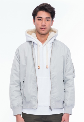 Alpha Style grey Riley Lace-up Jacket AL461AA0GF9KSG_1
