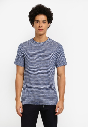 ZALORA blue SOFT STRIPED JERSEY TEE 232DAAA1B89F72GS_1