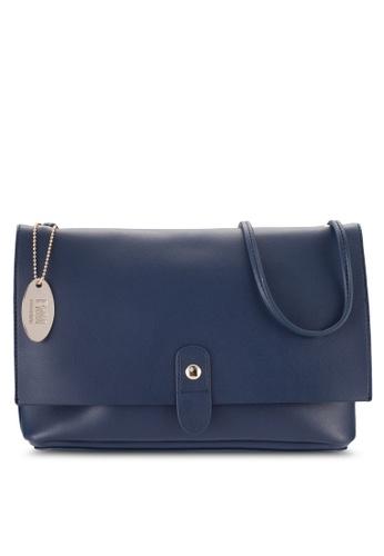 Perllini&Mel navy Faux Leather Sling Bag PE444AC96BNRMY_1