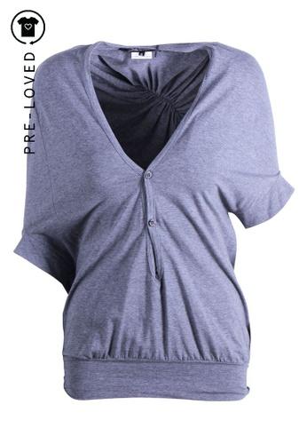 Junya Watanabe grey Pre-Loved junya watanabe Grey Short Sleeves Cotton Top JUNYA WATANABE FOR COMME DES GARCONS E7500AA44E77DCGS_1