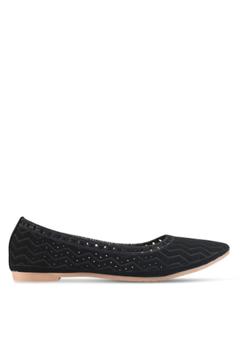 Spiffy black The Different Classic Casual Flats 09747SHEB00889GS_1