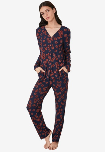Trendyol multi Button Down Knit Pajamas Set 07BE7AA2AF5F88GS_1