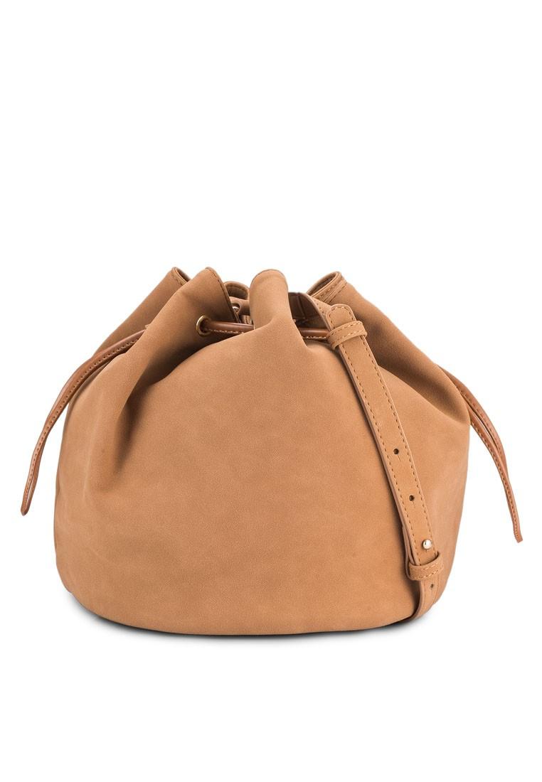 Suede Drawstring Bucket Bag