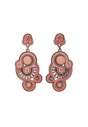 Jaysa Collection pink Pink Curls Dangle Earrings JA875AC0F7HWSG_1