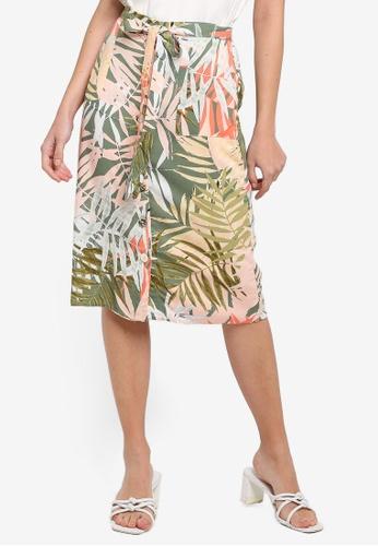 1447dc0bc6c63e Buy Dorothy Perkins Petite Palm Midi Skirt Online | ZALORA Malaysia