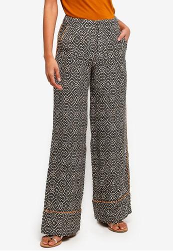 Hopeshow black High Waist Wide Legged Pants 7D3F3AA9800F41GS_1