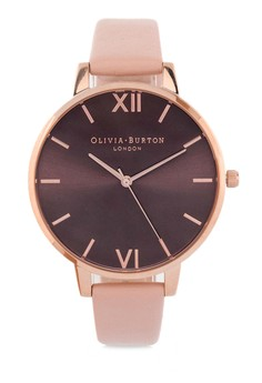 Olivia Burton Chocolate Dial Dusty Pink Rose Gold image