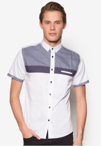 條紋短袖襯衫, 服esprit hong kong飾, 襯衫