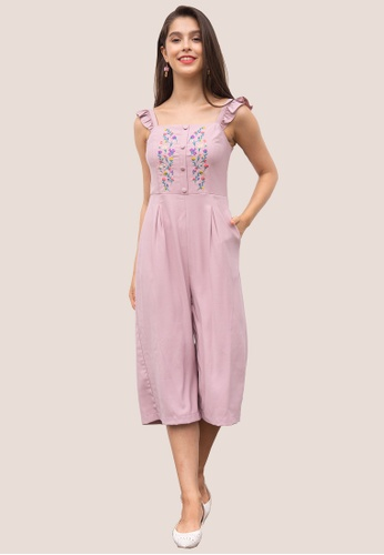 L'zzie 粉紅色 LZZIE NOMI连身衣-粉色 D6BFDAAE1D6154GS_1