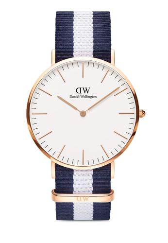 Daniel Wellington gold Classic Glasgow 40mm Rose Gold Watch CA440AC6ED92B7GS_1