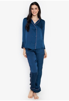 454e1c64e7 Women Secret blue Classic Pajama-Type Shirt Set 6BE96AA4CAEE2BGS 1