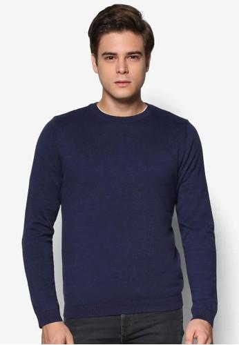 esprit 台北棉質圓領長袖衫, 服飾, 毛線衣