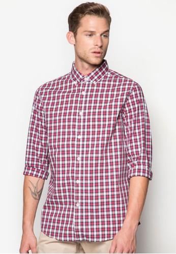 格紋長袖襯衫, esprit hong kong 分店服飾, 格紋襯衫
