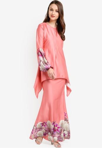 Meliasara pink Azzalea Carmilla Kurung Modern ME145AA66LPLMY_1