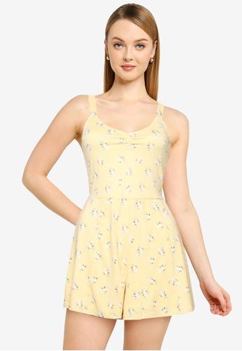 Hollister yellow Knit Romper 39EBAAA7040B05GS_1