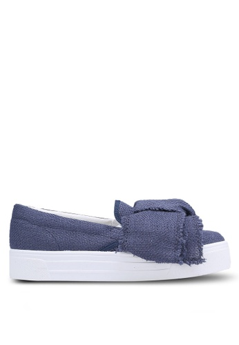 TOPSHOP blue Tutu Oversized Bow Slip Ons TO412SH0RCGDMY_1