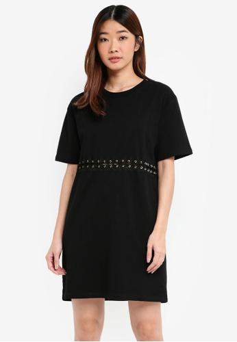 Something Borrowed black Hardware Trim Oversized Tee Dress 1F5BAAAF102F67GS_1