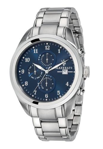 Maserati silver Maserati Traguardo Metal Band Quartz Chronograph Watches R8853112505 BC238ACA57F298GS_1