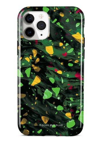 Polar Polar green Malachite Terrazzo Gem Dual-Layer Tough Case Glossy For iPhone 11 Pro 654EFAC023CE38GS_1