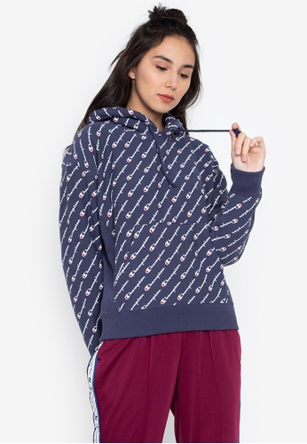 5d8e460a1c4f Shop Champion Life Women s Reverse Weave Pullover Hood All-Over-Print  Online on ZALORA Philippines