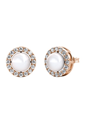 Her Jewellery white Her Jewellery Circlet Pearl Earrings (White Gold) embellished with Crystals from Swarovski DAE44AC0E6602BGS_1