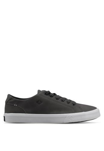 Sperry grey Striper II LTT Leather Sneakers AC316SHC3F3ADCGS_1