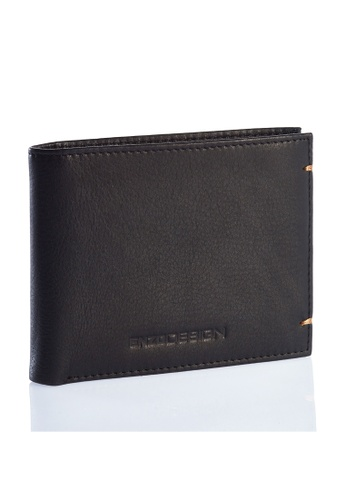 ENZODESIGN black and brown Ultra Soft Cow Leather Wallet (With Removable Card Holder) EN357AC0FI65SG_1