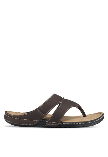 Bata brown Bata Toe Post Sandals C146DSH5465670GS_1