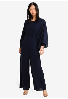 f5172b1a21b 20% OFF Megane Red Romance Daveney Butterfly Sleeve Jumpsuit S  83.90 NOW  S  67.00 Sizes S M L