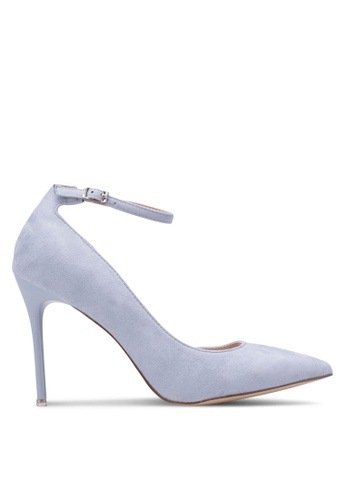 Nose blue Suede Ankle-Strap Pointy Toe Heels NO327SH0RVMIMY_1