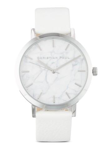 Hayma尖沙咀 esprit outletn  43mm 大理石紋皮革手錶, 錶類, 飾品配件