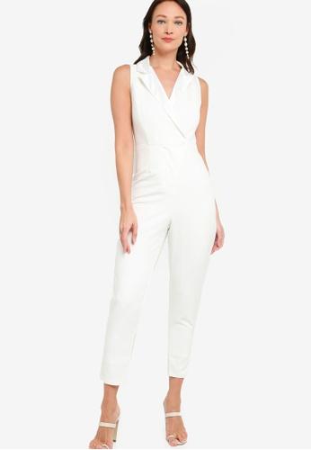 ZALORA OCCASION white Tuxedo Jumpsuit 4C5DCAA1EE6BFFGS_1