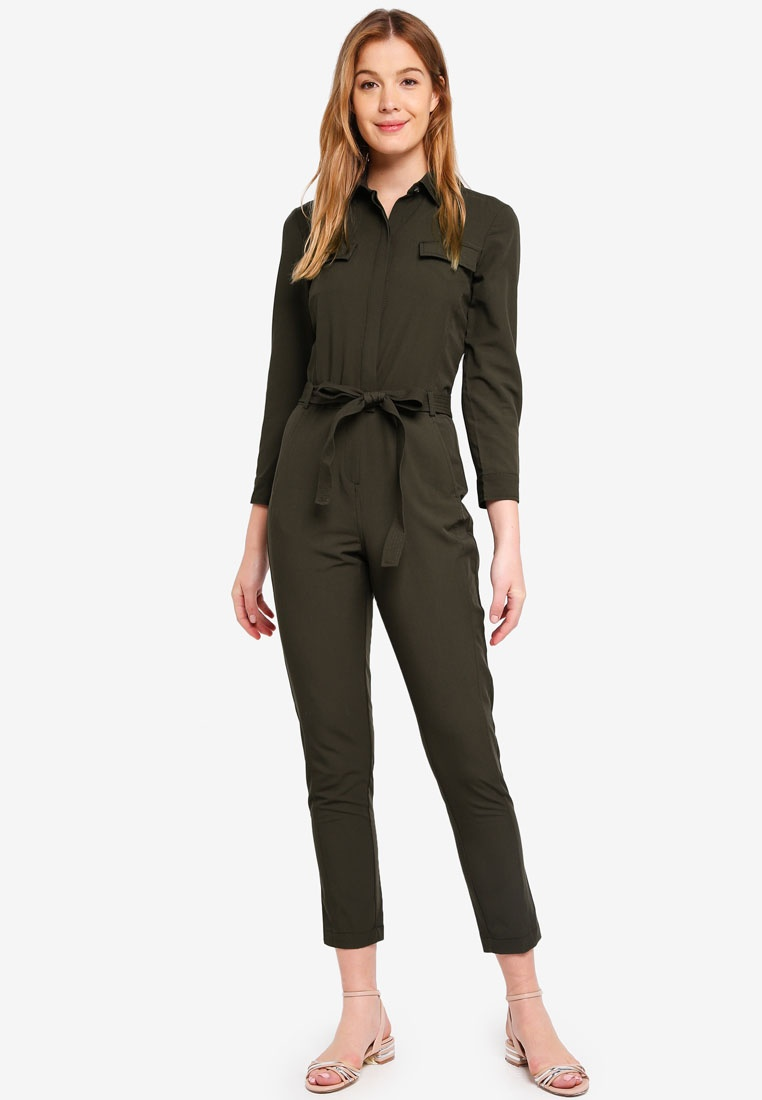 Jumpsuit Sleeve Utility 629 Long Republic Banana Olive Dark qZRP44