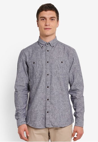 ESPRIT multi Woven Long Sleeve Shirt ES374AA0SJ7FMY_1