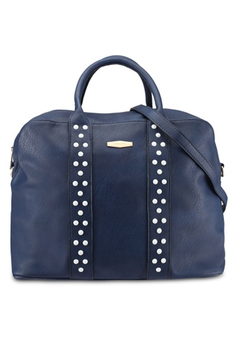 Perllini&Mel blue and navy Faux Leather Top Handle Bag PE444AC0SBKZMY_1