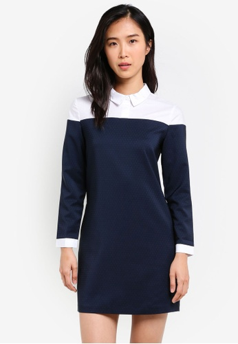 ZALORA multi Colorblocked Shirt Dress 67D5AAA9DC08F0GS_1