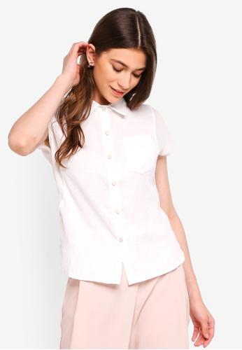 Eyescream white Basic Short Sleeve Shirt F9F6EAAAFBB9ADGS_1