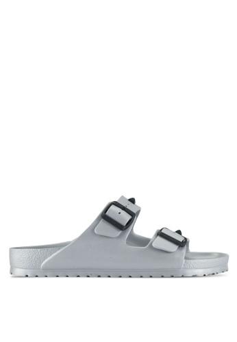Birkenstock silver Arizona EVA Studded Sandals 814D5SHE5BF625GS_1