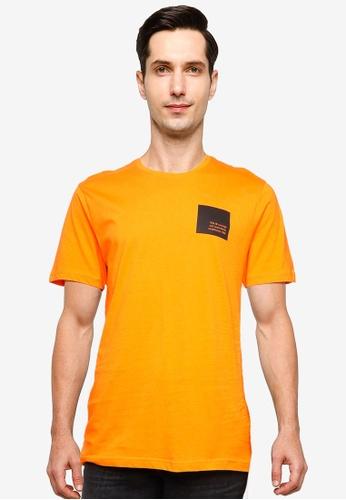 !Solid orange Dave Mini Logo T-Shirt 60C0CAAF604ED7GS_1