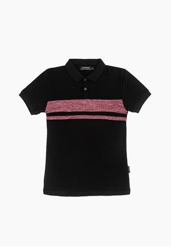 FOREST black Forest Slim Fit Pattern Polo T Shirt Men Casual - Baju T Shirt Lelaki  - 23356 - 01Black 450B5AA636FA2CGS_1