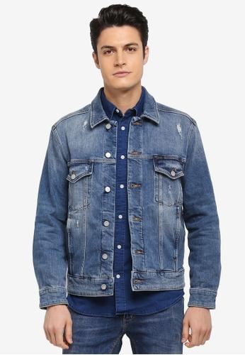 Calvin Klein blue Classic Trucker Jacket - Calvin Klein Jeans 5A3CEAA424765FGS_1