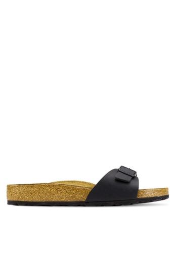 Birkenstock black Madrid Birko-Flor Sandals BI090SH39CSAMY_1