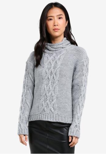Y.A.S grey Nima Knitted Jumper YA631AA0SE4VMY_1