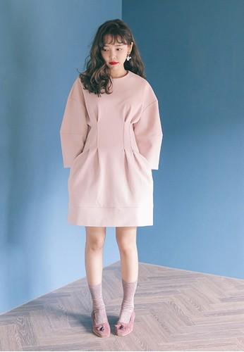 褶飾束腰連身裙esprit童裝門市, 服飾, 洋裝