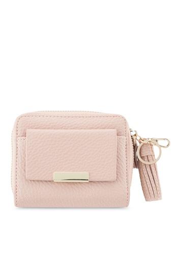 NUVEAU pink Pebbled Texture Medium Ladies Wallet With Tassel Zipper A1938AC5983928GS_1