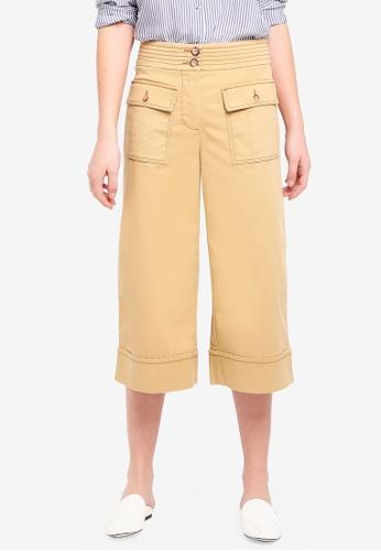 ESPRIT yellow Woven Cropped Pants 3CC93AA969345DGS_1