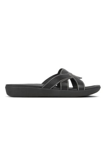 FitFlop black Fitflop Elyna Weave Slide (All Black) CBAD7SH2DEE10EGS_1